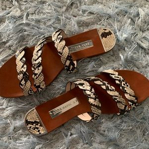Animal print ZARA sandals
